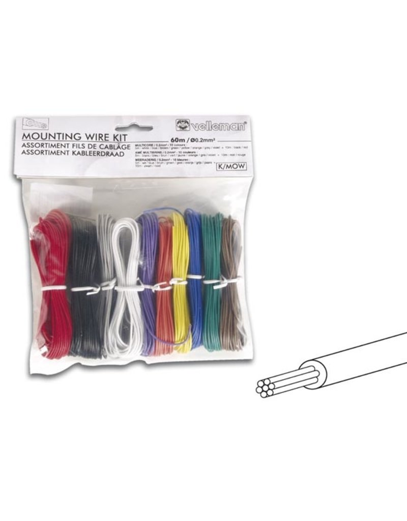 Velleman Mounting Wire Kit - Multicore Velleman K/MOW