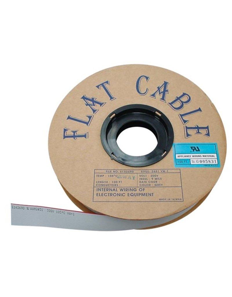 Flat cable - 16 Conductors - Grey - per Meter