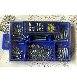 Velleman 180 pcs Screw Kit - Philips Screws and Nuts Velleman