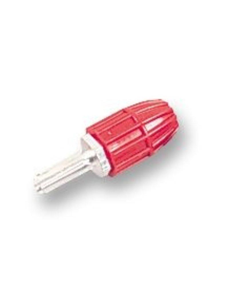 Belling Lee Banana plug, Silvered, Red