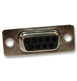 D-Sub connector, Female, 9 Way, Crimp, Straight, Norcomp