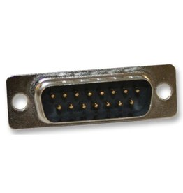 D-Sub connector, Male, 15 Way, Solder, Straight, Norcomp