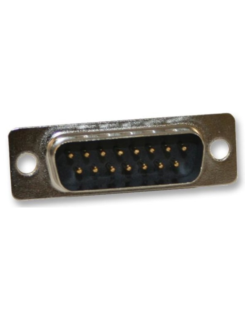 D-Sub connector, Male, 25 Way, Solder, Straight, Norcomp