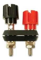 Dual Binding Post Nickel, Brass, Black-Red, Cliff Electronic Components