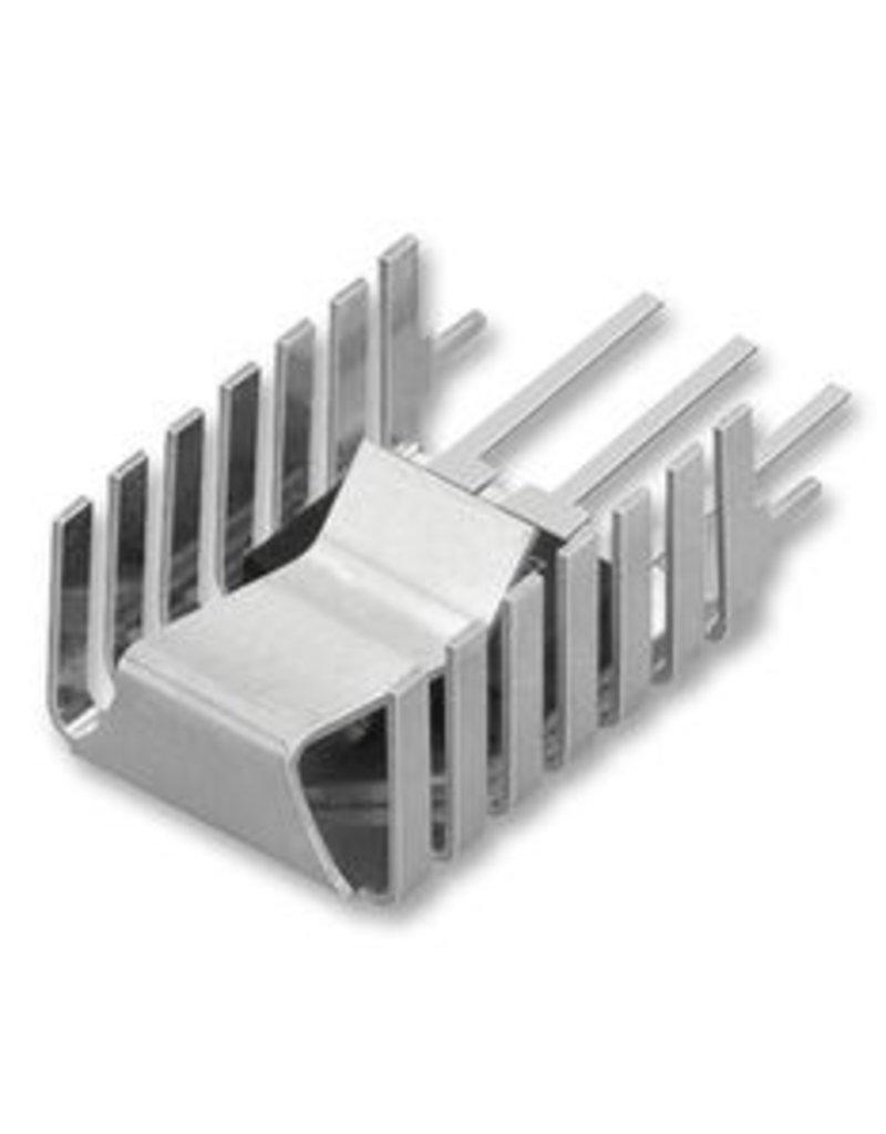 Fisher Elektronik Heatsink PCB-mount TO-218 TO-220