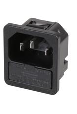 Schurter IEC Snap-in Power inlet Fused Schurter
