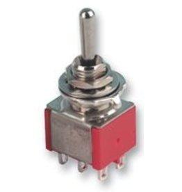 Miniature DPDT (On)-Off-(On) 5A 230V