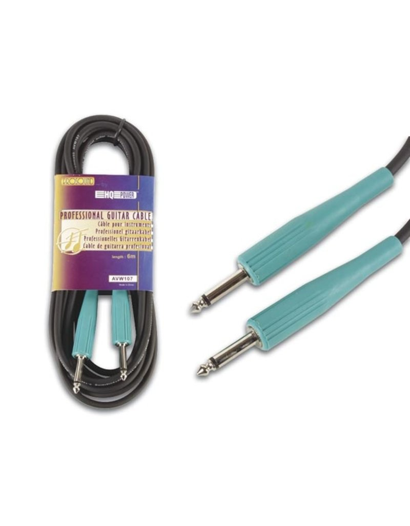Professional Jack Instrument Cable, 6m Green