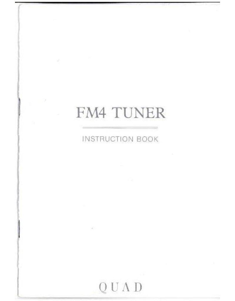 Quad FM4 Tuner Instruction book UK