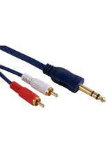 Velleman RCA - Jack 6,3mm 5,0m High-Q Interlink Velleman AVB019