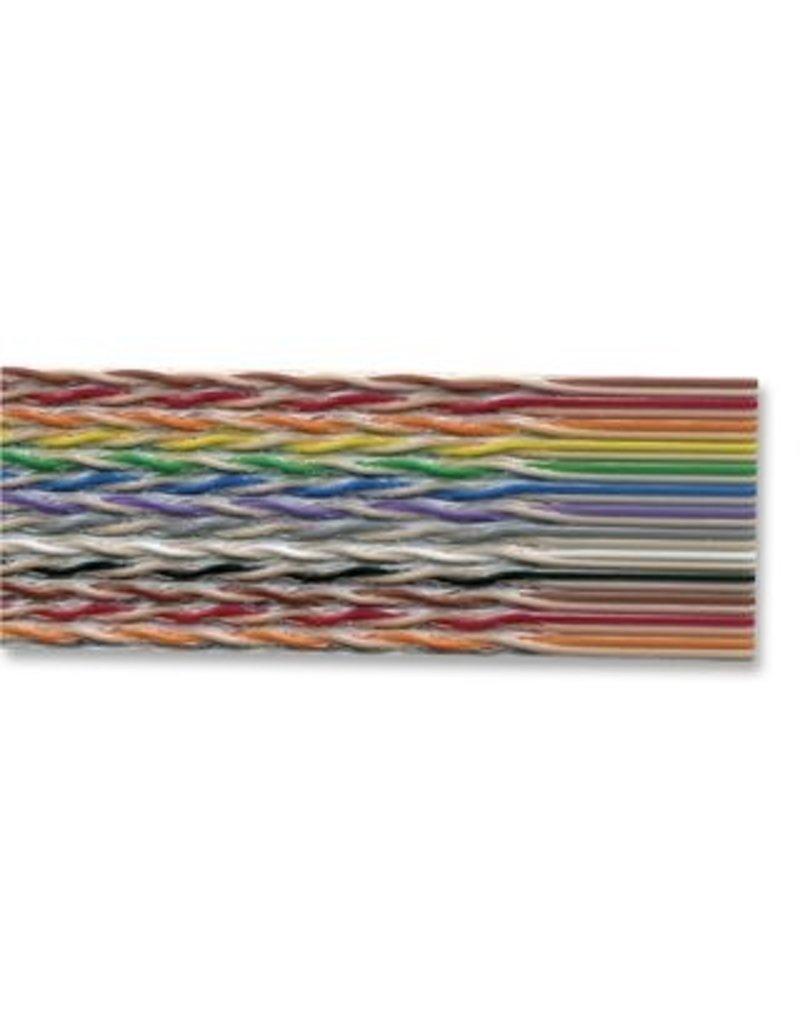 Ribbon Cable, 20-Way, 28AWG, 50V, per Meter