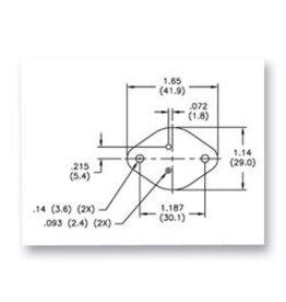 TO-3 Silicone-Fiber Insulator Pad