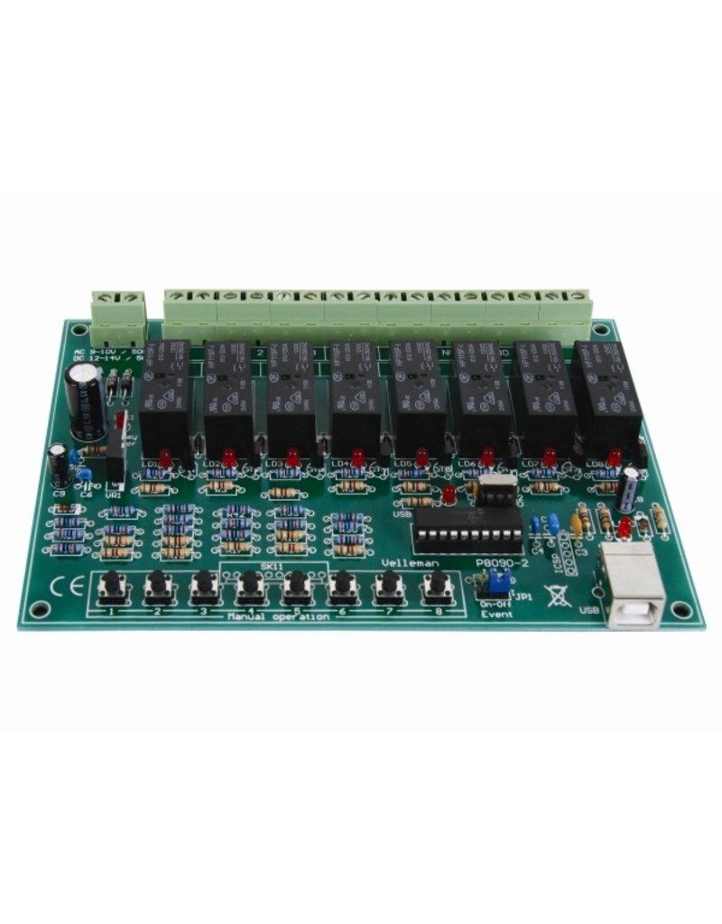 Velleman Velleman K8090 8-Channel USB Relay Card Kit