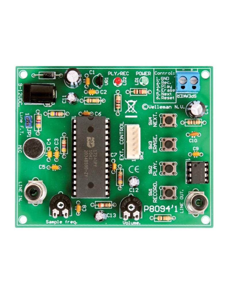 Velleman Velleman K8094 Extended Record - Playback module