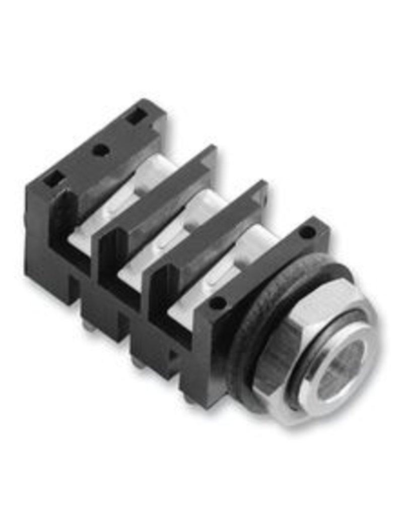 Amphenol Jack Socket 6,3 mm, PCB, Stereo Amphenol
