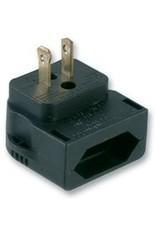 Powerconnections Mains Converter Plug, Euro, US, 3 A, Black