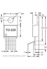 ST Microelectronics L200CV 2,85 to 36V 2A Voltage regulator TO220