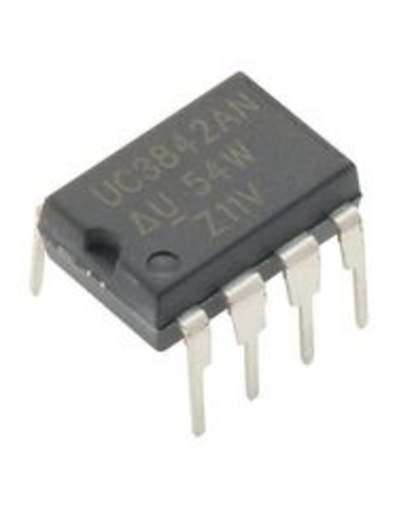 Texas Instruments UC3842AN . Current Mode PWM, 25V-12V supply, 500 kHz, 5V/1A out