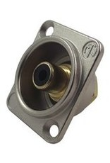 Neutrik RCA connector Jack, Gold Plated Contacts, Metal Body, Black