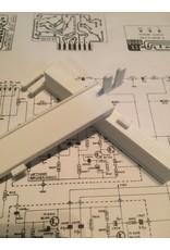 Dada Electronics 33 Balance Slider - Laser Printed - White