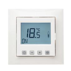 Raumthermostat digital mit Uhr für Berker Rahmen