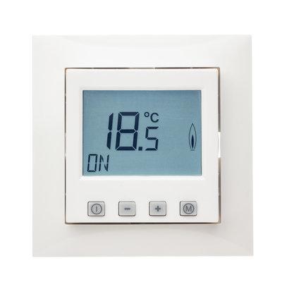 Raumthermostat digital mit Uhr für Berker S.1/B.3/B.7 Rahmen