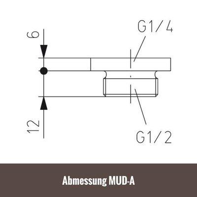 """ALRE Adapter G ¼"""" auf G ½"""" für Messumformer Druck MUD"""