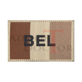 Claw Gear Belgium Flag Patch - Tan