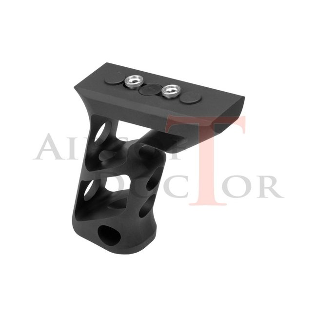 METAL CNC Keymod Long Angled Grip - Black