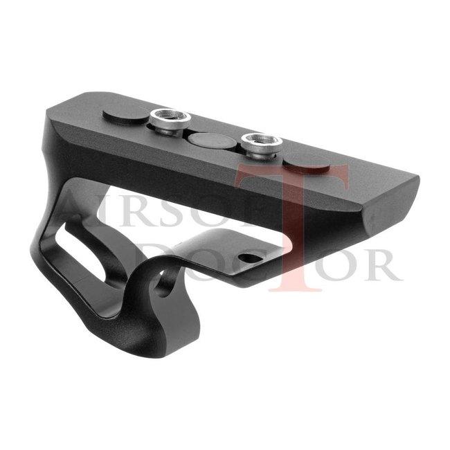 METAL CNC Keymod Short Angled Grip - Black