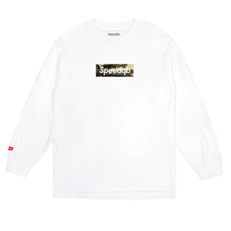 SpeedQB WOODLAND CAMO BOX LOGO LS TEE - WHITE