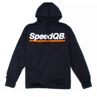 SpeedQB TECH HOODIE - BLACK/ORANGE