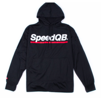 SpeedQB TECH HOODIE - BLACK/RED