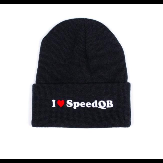 SpeedQB I LOVE SPEEDQB - CUFFED BEANIE