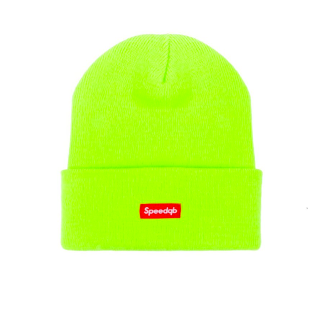SpeedQB CUFF BEANIE - SAFETY GREEN