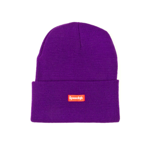 SpeedQB CUFF BEANIE - PURPLE