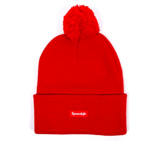 SpeedQB POM BEANIE - RED
