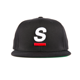 "SpeedQB ""UNDERSCORE"" 6 PANEL SNAPBACK - BLACK"