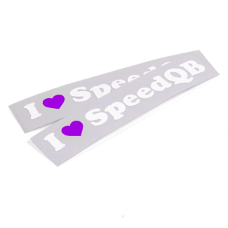 SpeedQB I LOVE SPEEDQB DECAL - PURPLE (2)