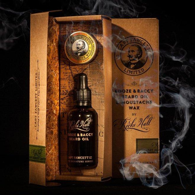 Captain Fawcett booze & baccy gift set
