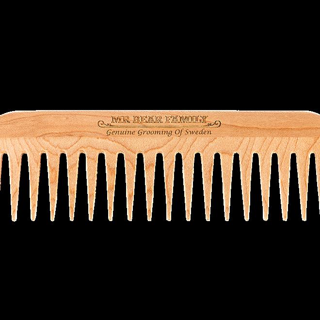 Mr Bear Family wooden beard comb