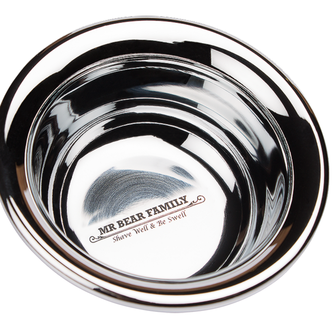 Mr Bear Family Shaving Bowl Stainless Steel