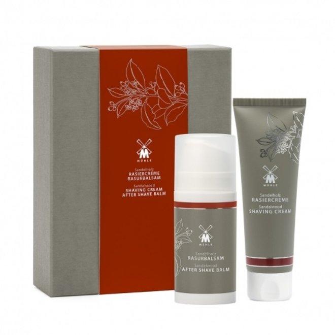 Skin care set (scheercreme en aftershave) Sandalwood