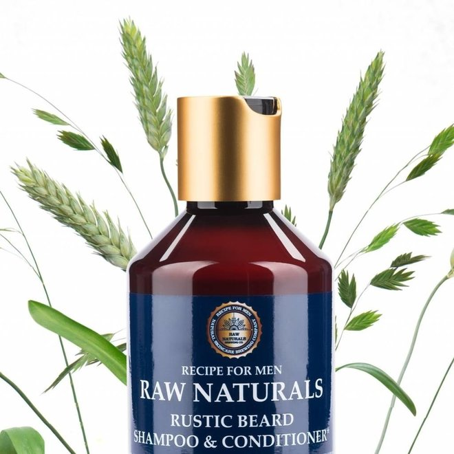 RAW Naturals Rustic Beard Shampoo and Conditioner 250 ml.