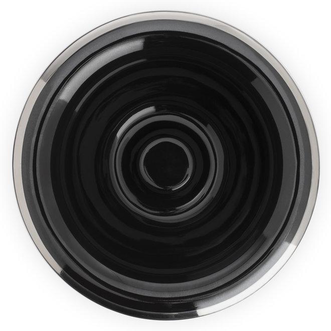 Muhle RN16 Scheerkom - Zwart porselein - 1 stuk