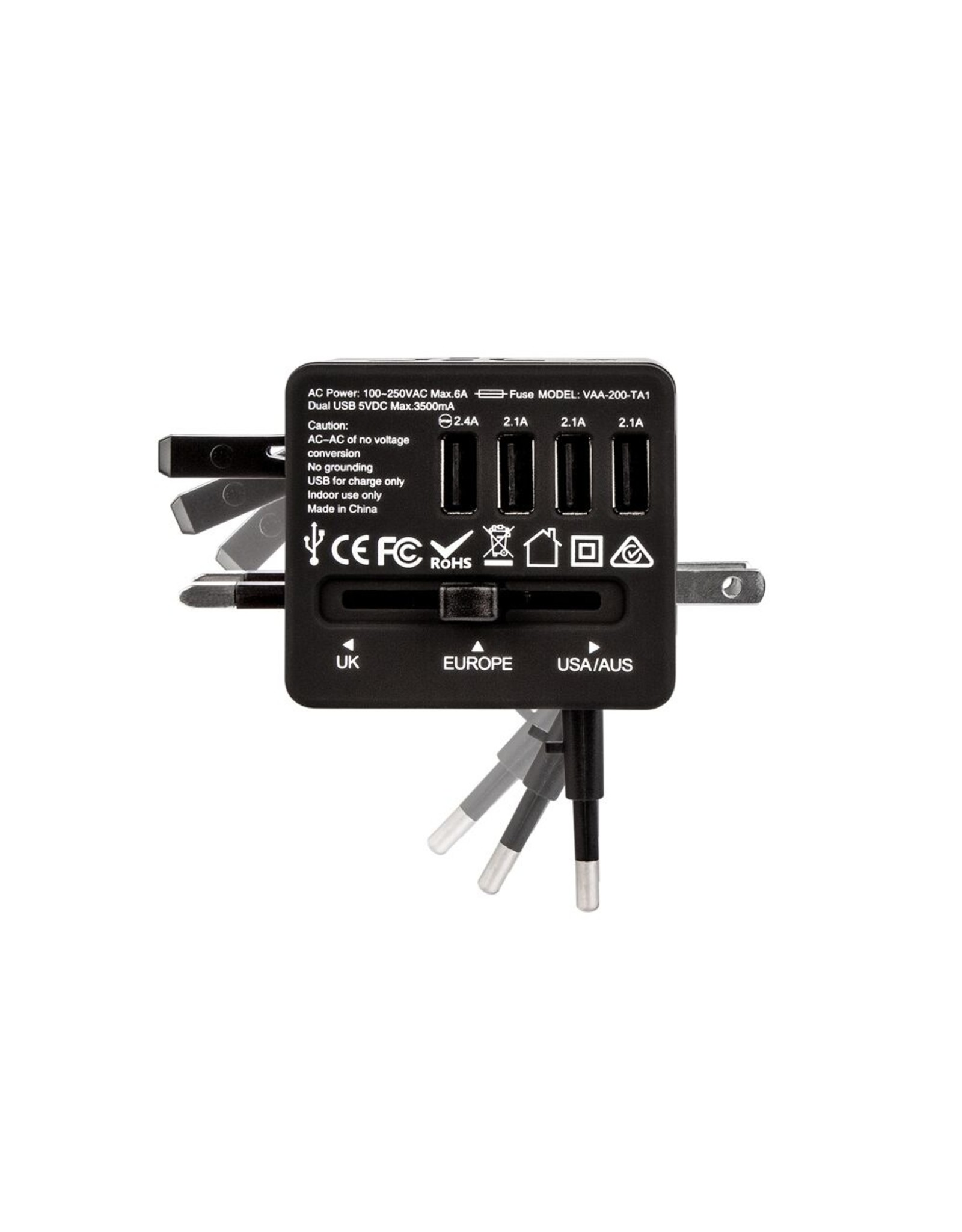 Veho Veho TA-1 Universal 4-Port World Travel Plug