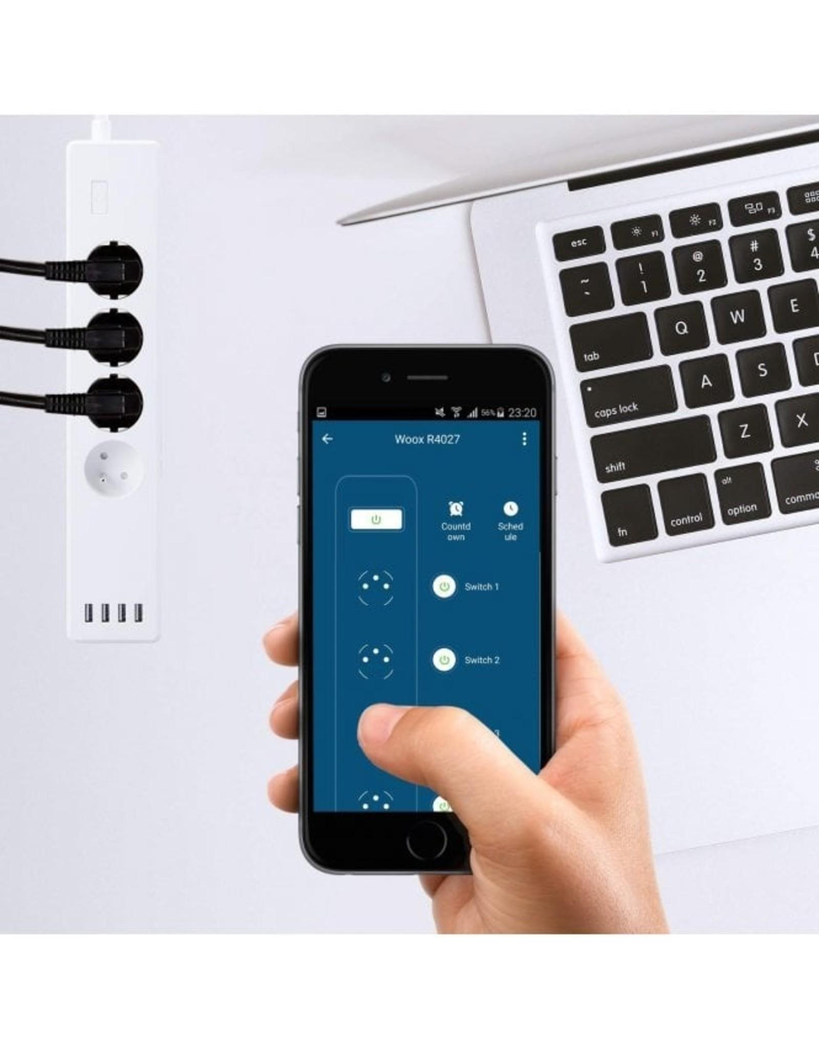 Woox Home  Woox Smart Multi Plug Pen aarde voor France | R4027