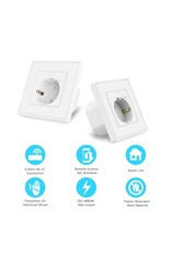 Woox Home Woox 2-Pack EU smart wall socket 10A | R4054