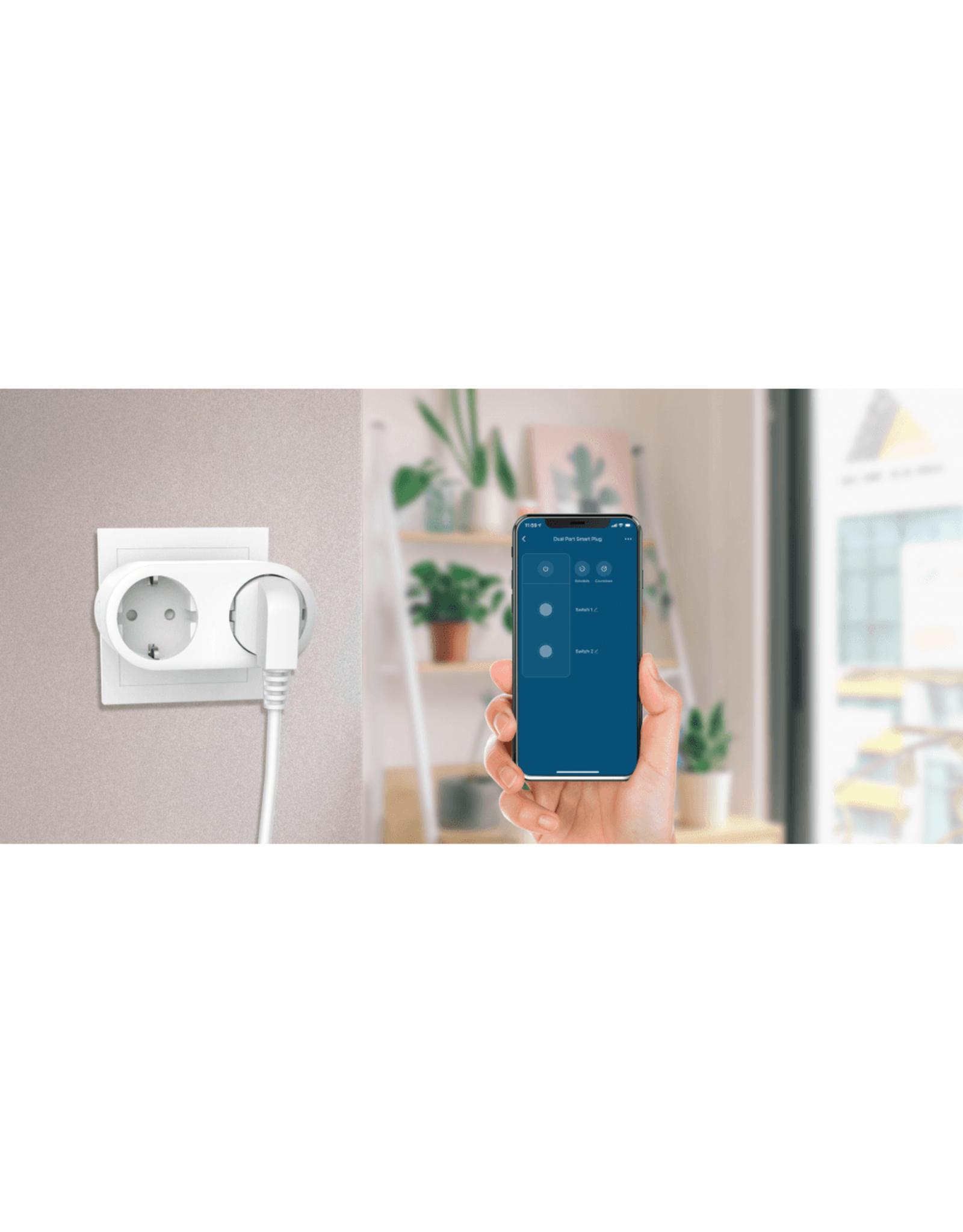 Woox Home Smart Dual Smart Plug | R6073
