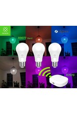 Woox Home WOOX 3 pieces R9077 E27 RGB+CCT LED Bulb + R7070 Zigbee Gateway